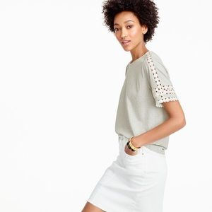 J.Crew / Lace Embroidered Top t-shirt